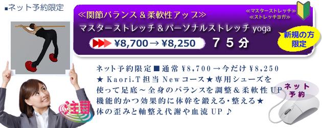 ≪関節バランス&柔軟性アップ≫マスターストレッチ&PSyoga75分¥8,250