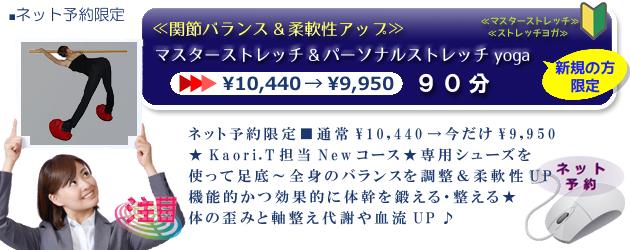 ≪関節バランス&柔軟性アップ≫マスターストレッチ&PSyoga90分¥9,950