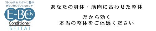 静岡市の整体&スポーツ整体 e-Bodyコンディショナー